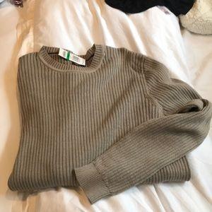 Tan long sleeved men's sweater